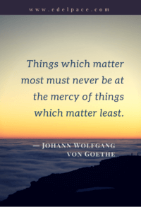 things which matter most
