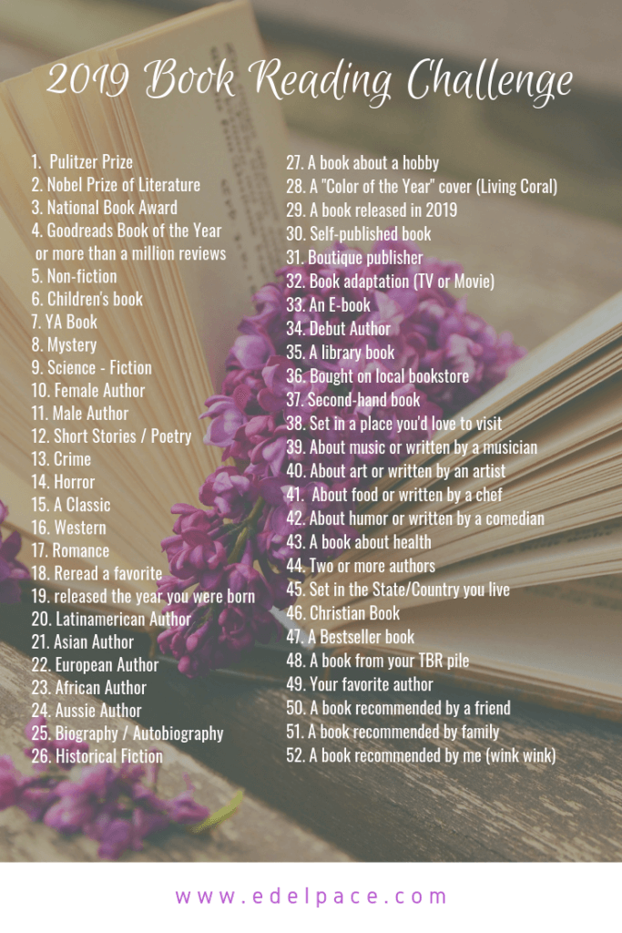 2019 Book Reading Challenge - Pacemaker Blog